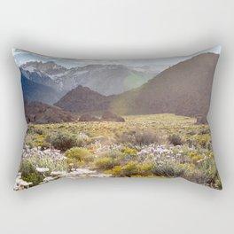 Wildflowers in Alabama Hills Rectangular Pillow