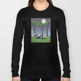 starlit striped skunks Long Sleeve T-shirt