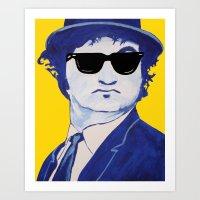 snl Art Prints featuring Jake Blues 1 by Rachcox
