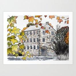 Autumn at Watson's Mill Art Print