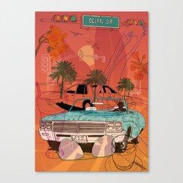 Miami Vibes Canvas Print