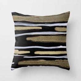 Golden splash Throw Pillow