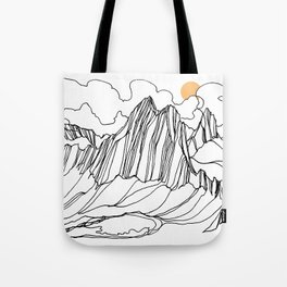 Snowpatch and the Col :: Bugaboos Tote Bag