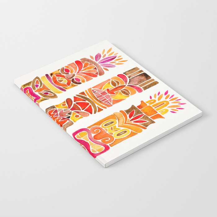 Tiki Totems – Fiery Palette Notebook