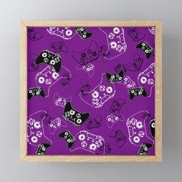 Video Game Purple Framed Mini Art Print