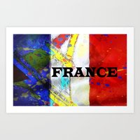 france Art Prints featuring FRANCE by Brian Raggatt