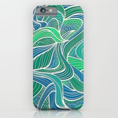 Abstract Wavy Leaves Slim Case iPhone 6s