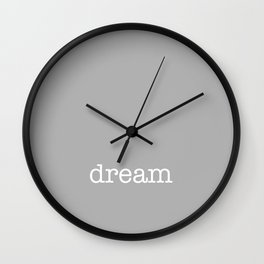 When Sled Dogs Dream Wall Clock