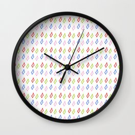 multicolor rectangles- geometric,abstraction,rectangle,multicolor,fun,pattern,joy,serious,cool,color Wall Clock