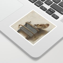 The Goldfinch by Carel Fabritius Sticker