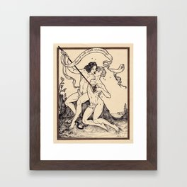 Love Is Rich With Both Honey And Venom Framed Art Print