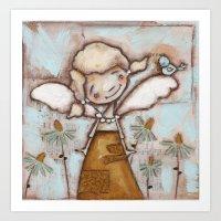 I Am Listening - by Diane Duda Art Print