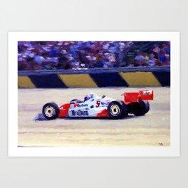 Indy Car Art Print