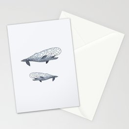 happy whale Stationery Cards