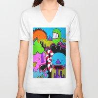 the xx V-neck T-shirts featuring xx sun xx by j52o.
