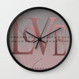 Dents & Rivet Love Wall Clock