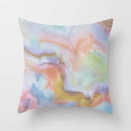 Colorful Rainbow Agate Throw Pillow