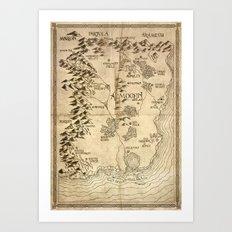 Map of Aemogen Art Print