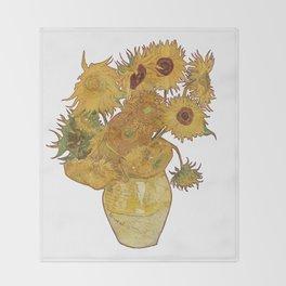 Sunflowers of Van Gogh Throw Blanket