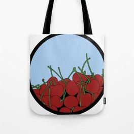 Cherries in a Bowl (Black Ring) Tote Bag