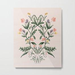 Modern Folk Art Metal Print