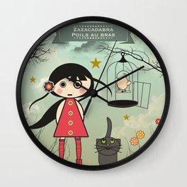Poils aux bras Wall Clock