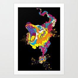 Psychedelic Bear Roar Art Print