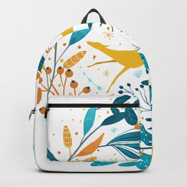 Sighthound Sun Yellow Flower Backpack