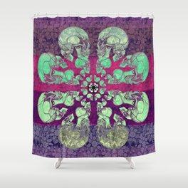 Skullflower / Schädelblume  Shower Curtain
