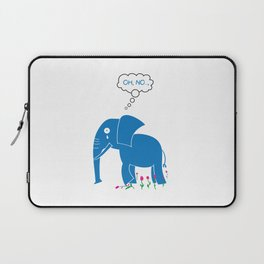 Sad Elephant Laptop Sleeve