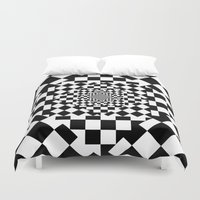 chess Duvet Covers featuring Chess Board by Cs025
