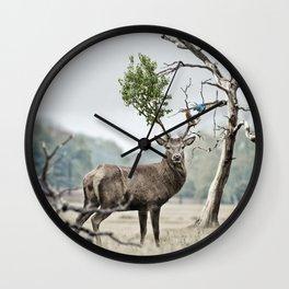 Mystical Deer Wall Clock