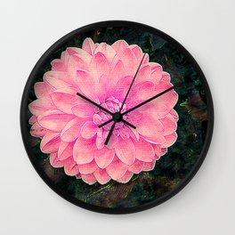 Camera on florals 4 Wall Clock