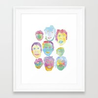 talking heads Framed Art Prints featuring Talking Heads by pommagranny