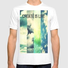 CREATE IS LIFE Mens Fitted Tee White MEDIUM