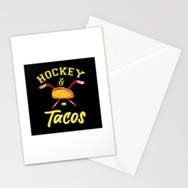 Hockey And Tacos - US American Sports Gift Stationery Cards