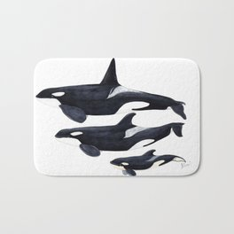 Orca (Orcinus orca) Bath Mat