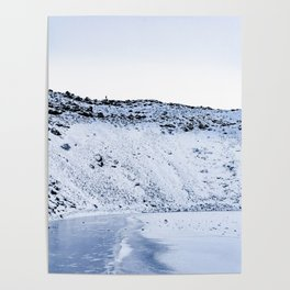Kerid Crater In Winter, Iceland Poster
