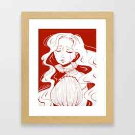 Beware of Crimson Peak Framed Art Print