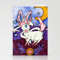 sylveon Stationery Cards featuring Eeveevolution Series - Sylveon by Jazmine Phillips