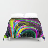 magneto Duvet Covers featuring magneto-dynamic by David  Gough
