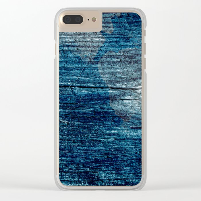 Old painted wood . Clear iPhone Case