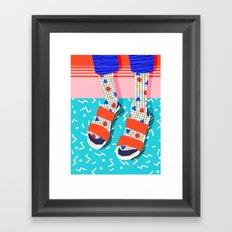 No Doi - memphis throwback retro classic style fashion 1980s 80s hipster shoes socks urban trendy Framed Art Print
