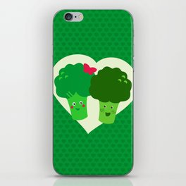 Broccoli in love iPhone Skin