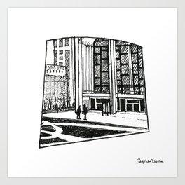 Lincoln Center Arch Art Print