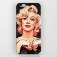marilyn iPhone & iPod Skins featuring Marilyn by Helen Green
