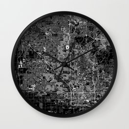 Phoenix Black Map Wall Clock