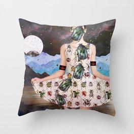 Beetledress Throw Pillow