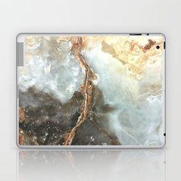 Golden Grey Marble Laptop & iPad Skin