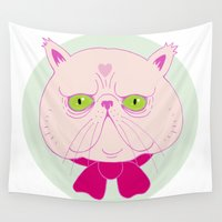 persian Wall Tapestries featuring Persian Cat by Madelen Foss